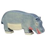 Afbeeldingen van Nijlpaard etend Holztiger