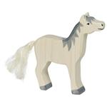 Afbeeldingen van Paard grijze manen hoofd omhoog Holztiger