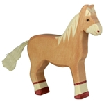 Afbeeldingen van Holztiger - Paard staand lichtbruin