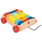 Picture of Blokkentrekwagen met 20 gekleurde blokken