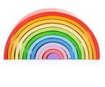 Afbeeldingen van Regenboog vormen-stapelpuzzel 12 bogen Bigjigs