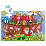 Afbeeldingen van Vloerpuzzel hout Ark van Noah 48 stukjes 3jr+ Bigjigs