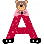 Afbeeldingen van Gekleurde beren letter A
