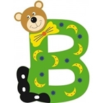 Afbeeldingen van Gekleurde beren letter B