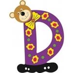 Image de Gekleurde beren letter D