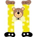Image de Gekleurde beren letter H
