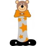 Afbeeldingen van Gekleurde beren letter I