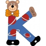 Afbeeldingen van Gekleurde beren letter K
