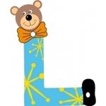 Image de Gekleurde beren letter L