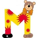 Afbeeldingen van Gekleurde beren letter M