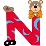 Image de Gekleurde beren letter N