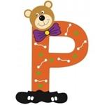 Image de Gekleurde beren letter P