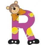 Afbeeldingen van Gekleurde beren letter R
