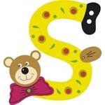 Afbeeldingen van Gekleurde beren letter S