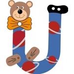 Image de Gekleurde beren letter U