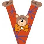 Image de Gekleurde beren letter V