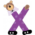 Picture of Gekleurde beren letter X