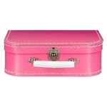 Bild von Vintage koffertje roze 25 cm