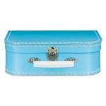Afbeeldingen van Vintage koffertje licht blauw 25 cm