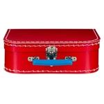 Afbeeldingen van Vintage koffertje rood 25 cm