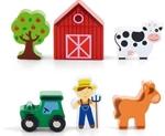 Afbeeldingen van Speelset hout Boerderij 6-delig - Vigatoys