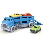 Afbeeldingen van Autotransporter met drie autos - recycled plastic - Greentoys