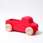 Afbeeldingen van Vrachtauto met open laadbak rood 22 cm Grimm's