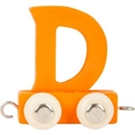 Afbeeldingen van Lettertrein gekleurd D