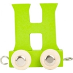 Afbeeldingen van Lettertrein gekleurd H