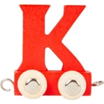 Bild von Lettertrein gekleurd K