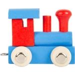 Bild von Lettertrein gekleurd Locomotief rood blauw