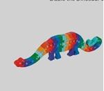 Bild von Legpuzzel Dinosaurus Dizzy ABC Fairtrade
