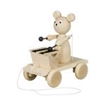 Afbeeldingen van Trekfiguur beer met xylofoon blank