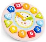 Bild von Puzzelklok  leerklok met wijzers en 24 uren