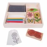 Bild von Stempel en kleurkistje bloemtjes en bijtjes