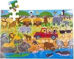 Picture of Vloerpuzzel hout Safari-avontuur 48 stukjes 3jr+ Bigjigs