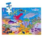 Afbeeldingen van Vloerpuzzel hout Zeeleven 48 stukjes