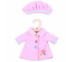 Afbeeldingen van Poppenkleding Roze jasje en muts (M) 30cm Bigjigs