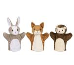 Afbeeldingen van Handpop assorti Eekhoorn, Konijn en Egel