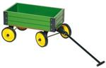 Afbeeldingen van Trekkar, Trekwagen Bolderkar  hout Groen