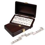 Afbeeldingen van Domino dubbel 6 in luxe houten cassette - Philos
