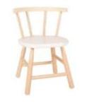 Afbeeldingen van Kinderstoel, white wash zitvlak, gebogen leuning, beukenhout Van Dijk Toys