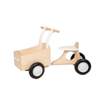 Image de Witte houten bakfiets vierwieler-kinderloopfiets  Van Dijk Toys