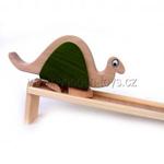 Picture of Dinosaurus (bronto) beukenhout op loopplank