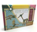 Afbeeldingen van Mini box 10 bouwplankjes als Kapla met  56 join clips