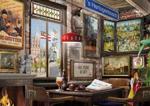 Afbeeldingen van Puzzel Bosch' Cafe 1000 stukjes