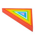 Afbeeldingen van Houten stapelpuzzel 7 driehoeken regenboog Bigjigs