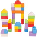 Afbeeldingen van Houten blokken kliksysteem gekleurd 40 stuks Bigjigs