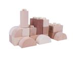 Image de Houten blokken kliksysteem blank 100 stuks in houten kist Bigjigs