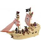 Afbeeldingen van Piratenspeelschip hout met piraten Tidlo